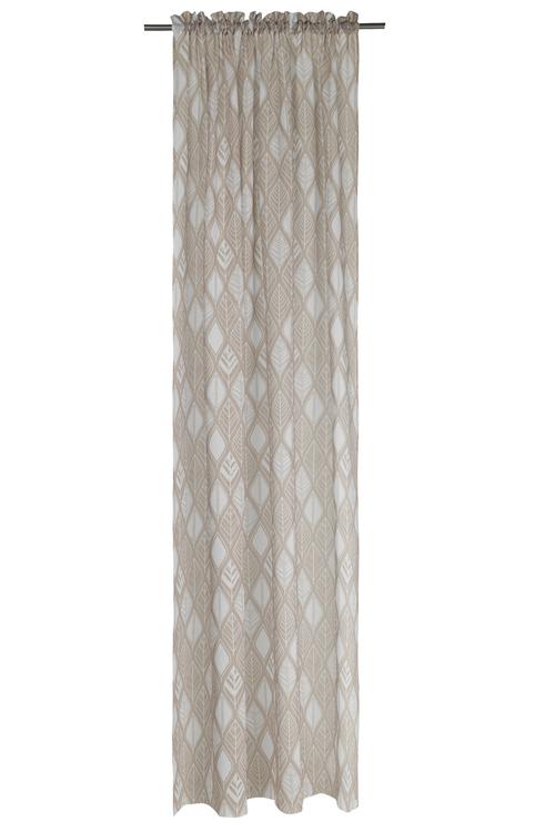 Gardinset med två längder och dolda hällor. Mått 2 x 140 x 240 cm.