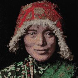 Kuddfodral Portrait 4. Mått 45 x 45 cm.