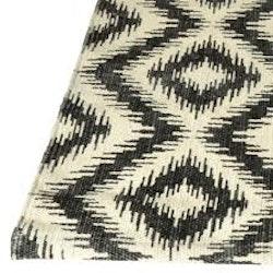 Kricka bomullsmatta från Boel & Jan i svart och ivory. Mått 70 x 200 cm