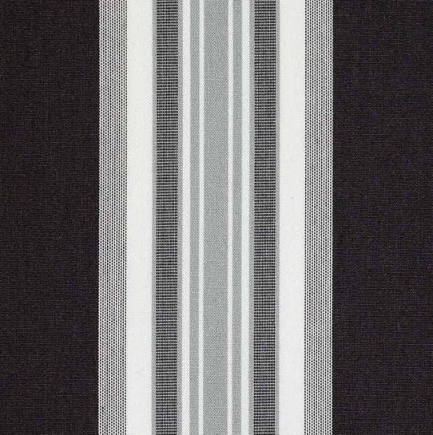 Markisväv/uteväv Maria svart. Material 100% Dralon. Bredd 130 cm.