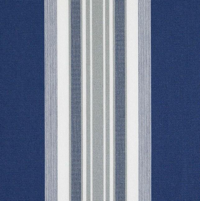 Markisväv/uteväv Maria blå. Material 100% Dralon. Bredd 130 cm.