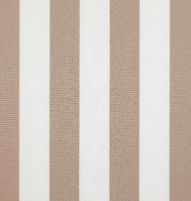 Markisväv/uteväv Blockrand beige. Material 100% Dralon. Bredd 130 cm.