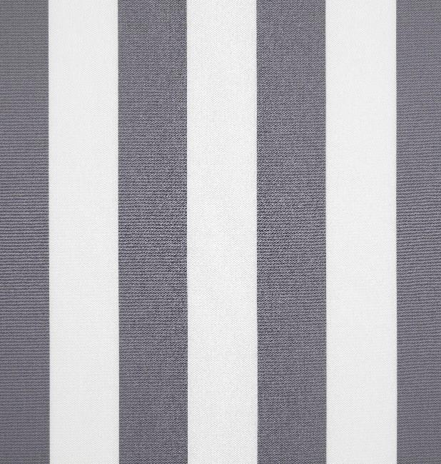 Markisväv/uteväv Blockrand grå. Material 100% Dralon. Bredd 130 cm.