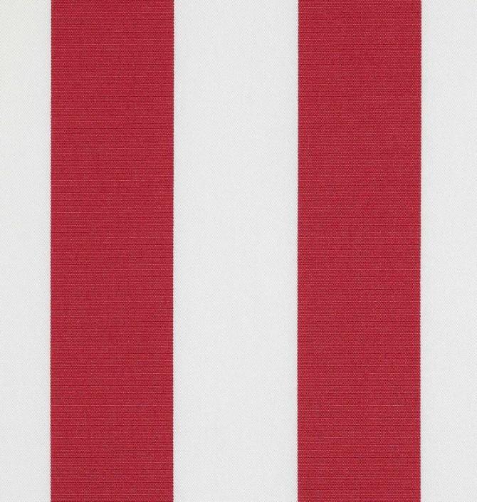 Markisväv/uteväv Blockrand röd. Material 100% Dralon. Bredd 130 cm.