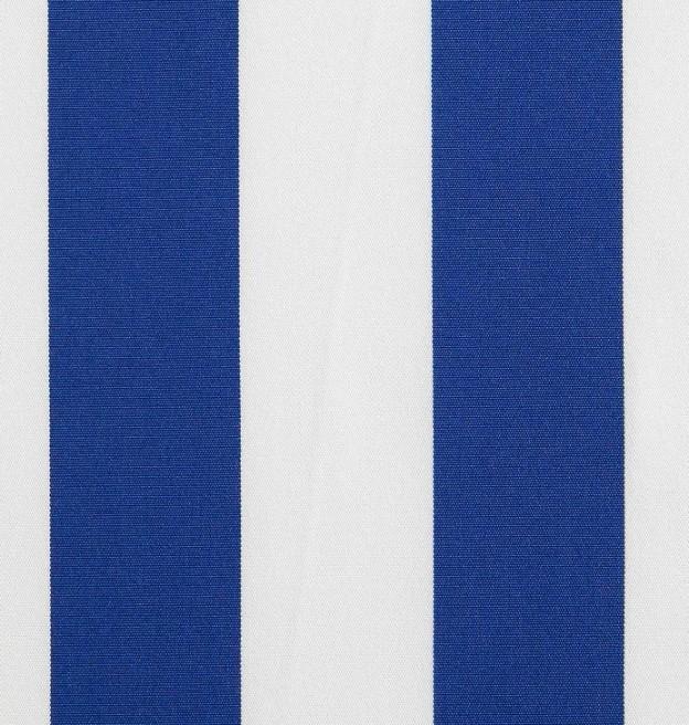 Markisväv/uteväv Blockrand blå. Material 100% Dralon. Bredd 130 cm.