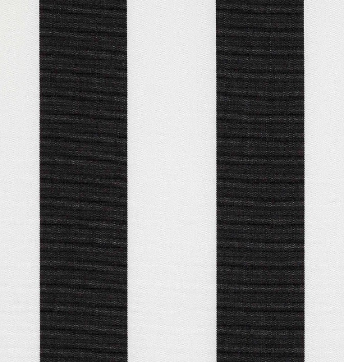 Markisväv/uteväv Blockrand svart. Material 100% Dralon. Bredd 130 cm.