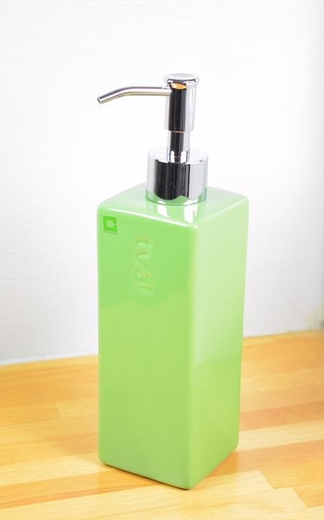 Tvålpump från Cult design. Färg: Grön. Höjd 22 cm.