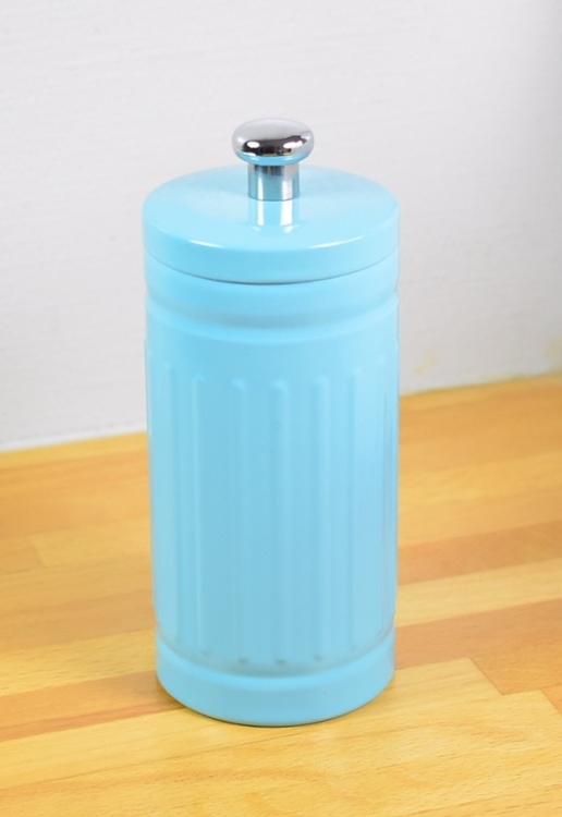 Bomullshållare i plåt. Färg: Ljusblå.