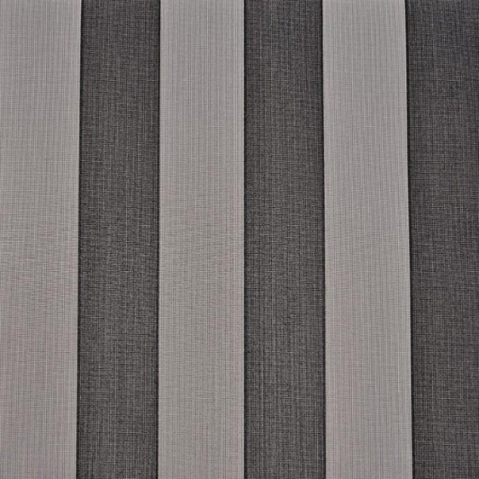 Markisväv/uteväv Fidji Grå/svart. Material 100% Dralon. Bredd 130 cm.