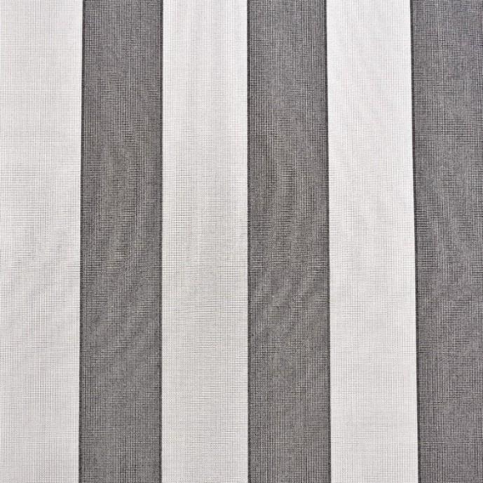 Markisväv/uteväv Fidji Grå/vit. Material 100% Dralon. Bredd 130 cm.
