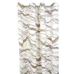 Vågad (beige) gardinset med dolda hällor från Boel & Jan. Mått 2 x 145 x 240 cm. Material: 100% bomull.