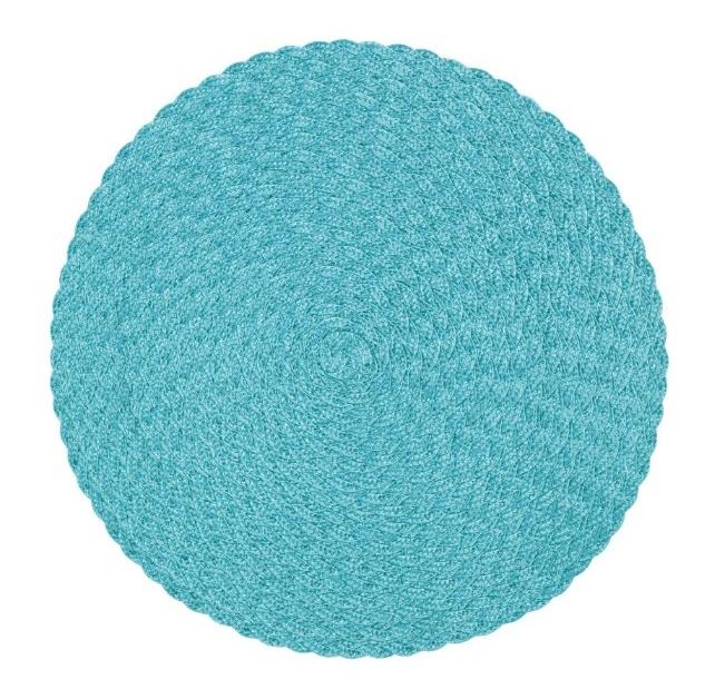Tellus en rund tablett från Noble house. Färg Ljus aqua.