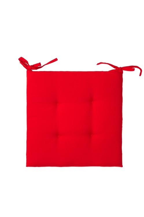 REA. Stolsdyna. Färg: Röd. Mått: 40 x 40 x 2,5 cm. Material: Tyg 100% polyester. Fyllning: 100% polyester.