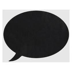 Memo pratbubbla med krita. Wallsticker från Modern house. Mått oval 1 x 52 x 40 cm.