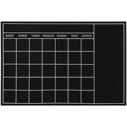 Memo planeringskalender månad med krita. Wallsticker från Modern House. Mått rektangulär 1 x 61 x 91 cm.