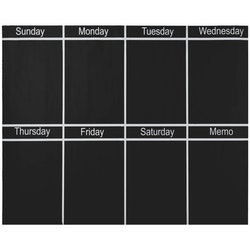 Memo planeringskalender vecka med krita. Wallsticker från Modern House. Mått rektangulär 1 x 95 x 77 cm.