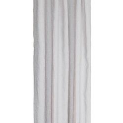 Gardinset i en ljus beige nyans med två längder med dolda hällor. Mått 2 x 130 x 220 cm.