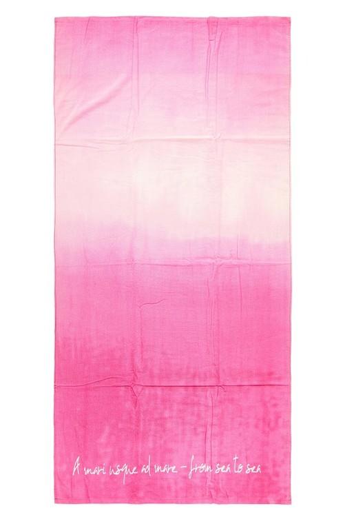 Badlakan i frotté. Färg: Rosa. Mått 90 x 180 cm. Material: Bomull.