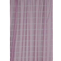 Gardinset med två kanallängder. Färg: Rosa. Mått 2 x 140 x 240 cm.