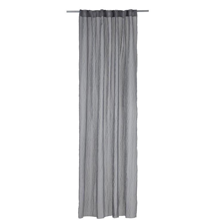 Gardinset Vistorp med två gardinlängder. Färg: Grå. Mått: 130 x 240 cm. Material: 100% polyester.