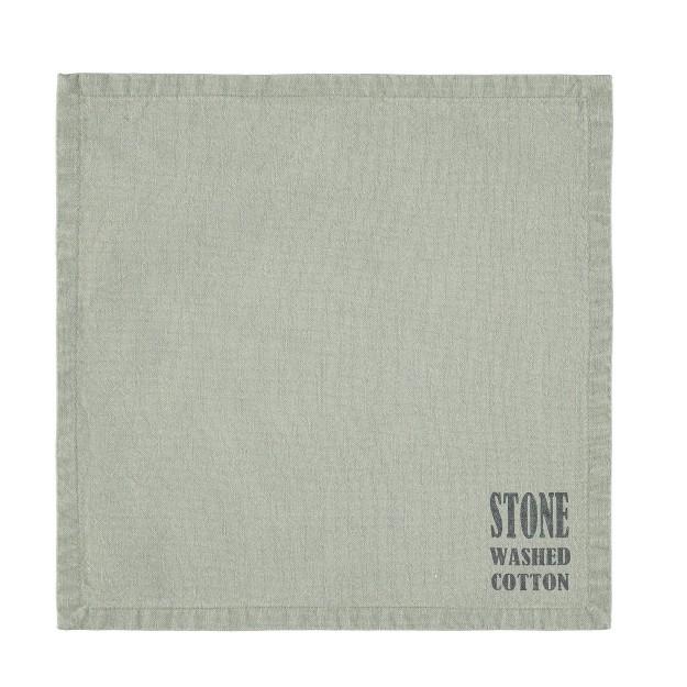 Duk/servett Stockholm Misty green i stentvättad bomull. Färg: Misty green. Mått 30 x 30 cm. Material: 100% bomull.
