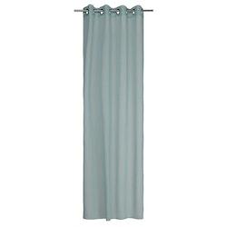 Gardinset Vanja med 2 öljettlängder. Färg: Dimgrön. Mått: 2 x 130 x 240 cm. Material: 100% polyester.