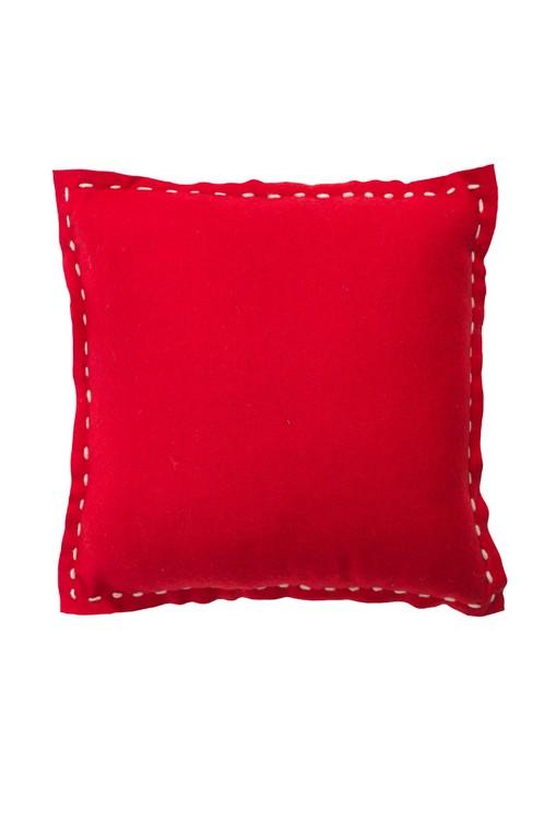 Prydnadskudde Moa wool. Färg: Röd.