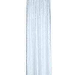 Gardinset Evelina från Noble house. Färg: Vitt med tryckta stjärnor i silverfärg.