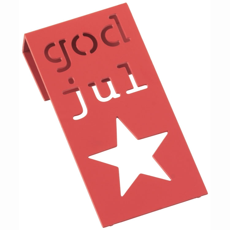 God jul tag från Cult design. Material lackerad metall.