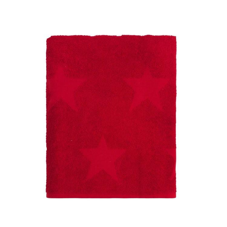 Badlakan Nova star från Noble house. Färg: Röd. Mått: 70 x 130 cm.