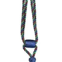 Tassels/Gardinomtag med tofs. Färg: Blå, grön och röd. Längd: 60 cm.