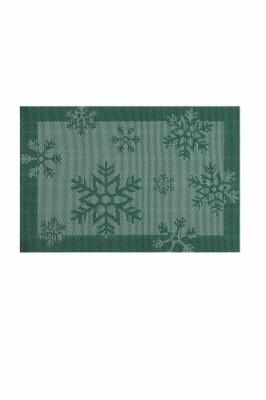Tablett Snowflakes. Färg: Grön och vit.
