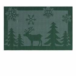 Tablett Deer. Färg: Grön och vit.