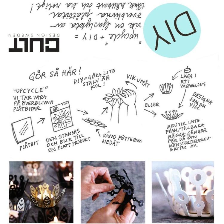 Ljuslykta DIY Blad från Cult design. Färg: Blå.