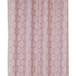 Aline ett gardinset med öljetter. Färg: Ljung.