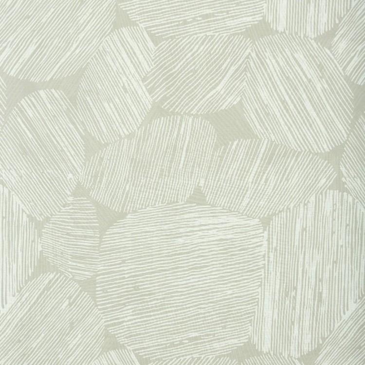 Storm ett gardinset med multiband från Boel & Jan. Färg: Offwhite med ett beige tryck.
