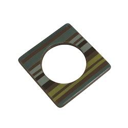 Change ljusmanchett från Cult design. Färg: Mullvad med gröna och svarta ränder.