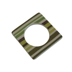 Change ljusmanchett från Cult design. Färg: Vit med gröna och bruna ränder.