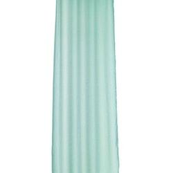 Gardinset Olivia med 2 öljettlängder. Färg: Aqua. Mått: 2 x 130 x 220 cm.
