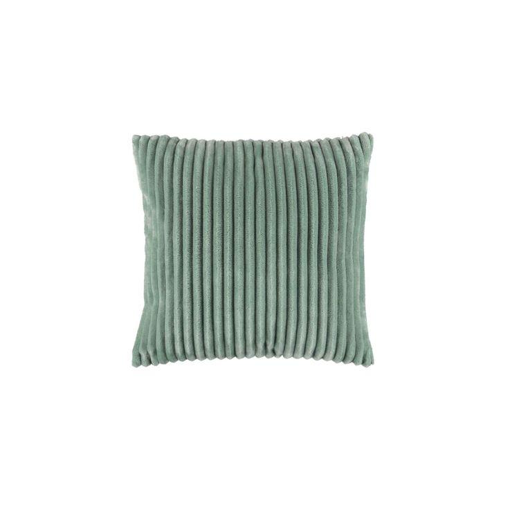 Flanel en härligt mjuk kudde i Manchestersammet. Färg: Green mist.