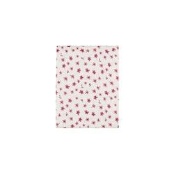 Ruth ett mönstrat underlakan från Noble house. Färg: vitt med rosa blommor.