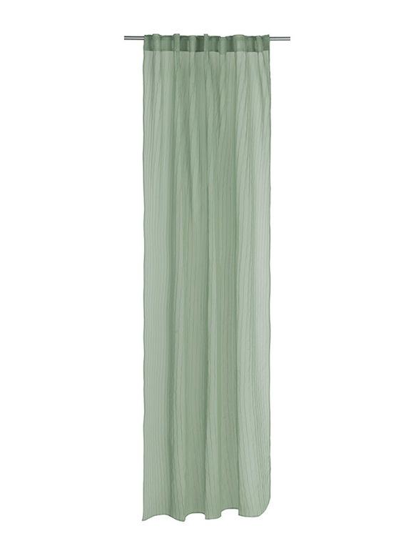 Leia ett gardinset med dolda hällor från Noble house. Färg: Grön.