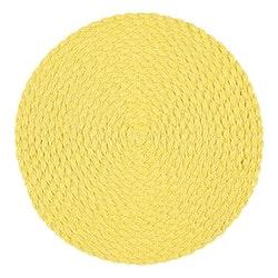 Tellus en rund tablett från Noble house. Färg Ljusgul.