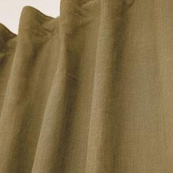Enzyme ett gardinset i tvättad bomull. Färg: Gul.