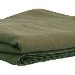 Enzyme ett härligt enfärgat överkast till dubbelsäng i tvättad bomull. Färg: Mörkgrön.