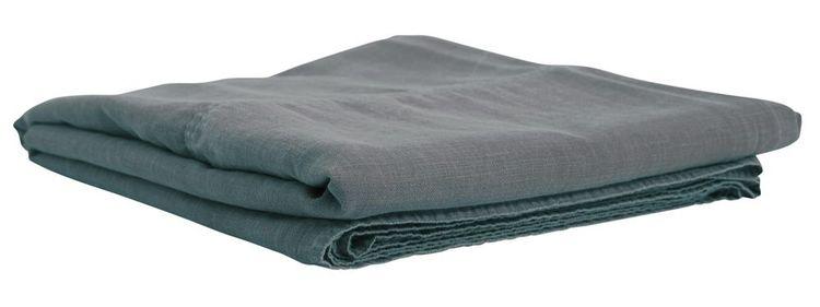Enzyme ett härligt enfärgat överkast till dubbelsäng i tvättad bomull. Färg: Blå.