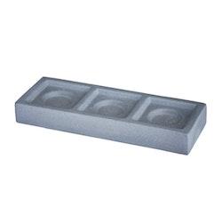 Change ruff grå från Cult design, en värmeljushållare för 3 värmeljus. Färg: Betong.