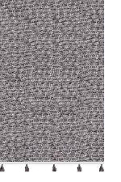 Indo en bomullsmatta med härliga tofsar. Mått: 70 x 140 cm. Färg: En melerad matta i gråa toner.