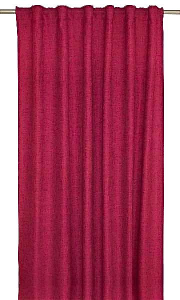 Marie ett linnevävt gardinset med multiband. Färg: Klarröd.