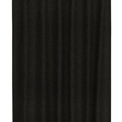 Marie ett linnevävt gardinset med multiband. Färg: svart.
